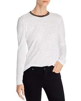 Goldie - Metallic-Trim Long-Sleeve Tee