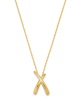 "Bloomingdale's - Medium X Pendant Necklace in 14K Yellow Gold, 18"" - 100% Exclusive"