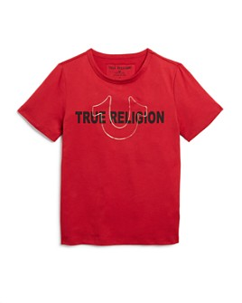 True Religion - Boys' Foil Logo Tee - Little Kid, Big Kid