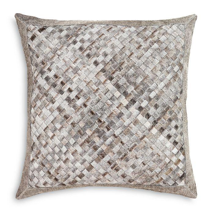 "Surya - Cesta Cow Hair on Hide Decorative Pillow, 20"" x 20"""