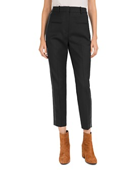 The Kooples - Cropped Side-Inset Wool Pants
