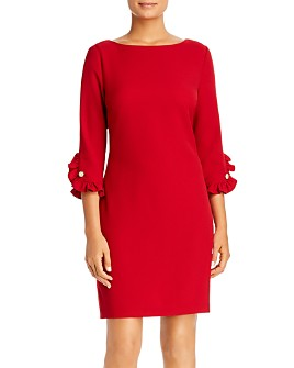 KARL LAGERFELD Paris - Ruffle-Cuff Sheath Dress
