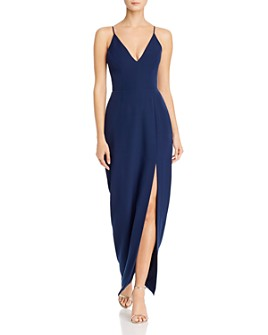 WAYF - Maisle Plunging Slip Maxi Dress