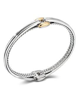 David Yurman - Sterling Silver & 18K Yellow Gold Thoroughbred Center Link Bracelet
