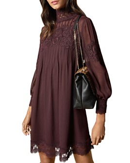 Ted Baker - Anneah High Neck Lace-Inset Tunic Dress