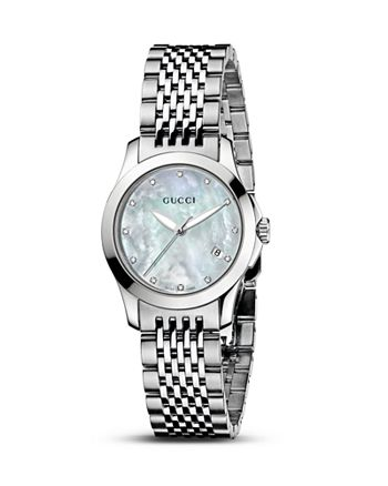 139ed01ddb0 Gucci - G-Timeless Stainless Steel Watch with Mother-of-Pearl and Diamonds