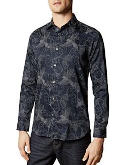 Ted Baker - Blum Leaf Print Slim Fit Button-Down Shirt - 100% Exclusive