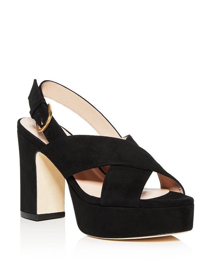 Stuart Weitzman - Women's Jerry Block High-Heel Platform Sandals