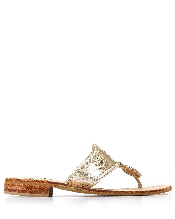 f09f7b220 Jack Rogers - Women s Hamptons Metallic Thong Sandals