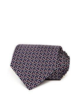 Salvatore Ferragamo - Overlapping Gancini Silk Classic Tie