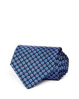 Salvatore Ferragamo - Contrast Gancini Silk Classic Tie