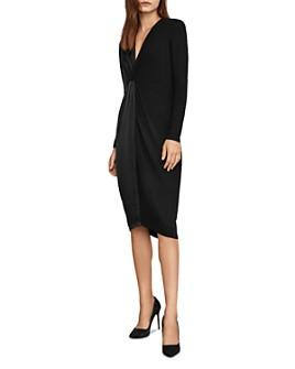 BCBGMAXAZRIA - Twist-Front Dress