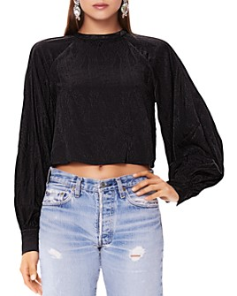 AFRM - Olivia Balloon-Sleeve Cropped Top