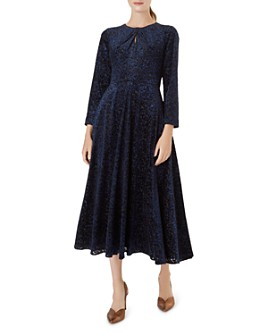 HOBBS LONDON - Neva Leopard Velvet Burnout Dress