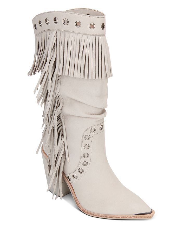 Kenneth Cole - Women's West Side Fringe Mid-Calf Boots