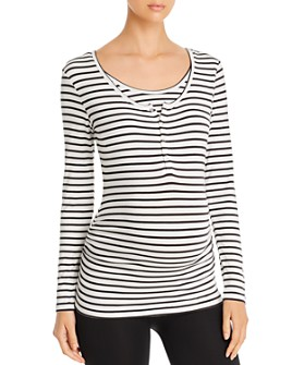 Nom Maternity - During & After Snap-Front Tee