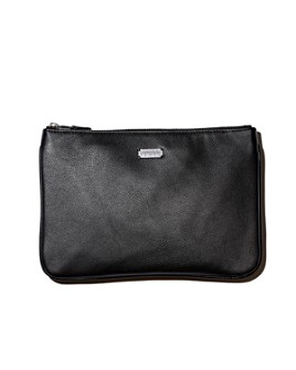 Lambertson Truex - Large Pebbled Leather Zip Pouch