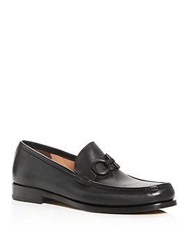 Salvatore Ferragamo - Salvatore Ferragamo Men's Rolo Gancini Bit Leather Moc-Toe Loafers