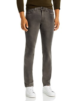 PAIGE - Croft Skinny Fit Jeans in Slate Rock Coated