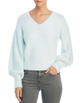 Marled - Blouson-Sleeve Eyelash Sweater