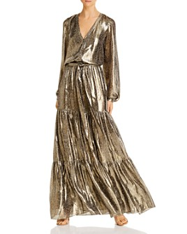 Ramy Brook - Metallic Printed Maxi Dress
