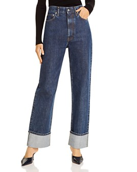 Helmut Lang - Femme Hi Straight Jeans in Dark Stone Wash