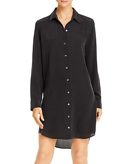 Equipment - Essential Silk Shirtdress