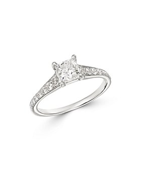 Bloomingdale's - Princess-Cut Solitaire Diamond Ring in 14K White Gold, 1.35 ct. t.w. - 100% Exclusive