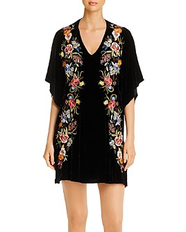 Johnny Was - Isla Embroidered Velvet Dress