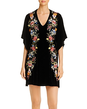 Johnny Was Dresses ISLA EMBROIDERED VELVET DRESS