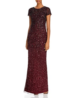 Adrianna Papell - Beaded Ombré Gown
