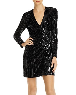 ASTR the Label - Paris Sequined Wrap Dress