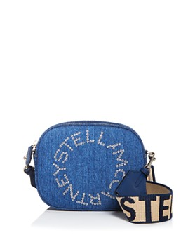 Stella McCartney - Denim Embossed Convertible Belt Bag