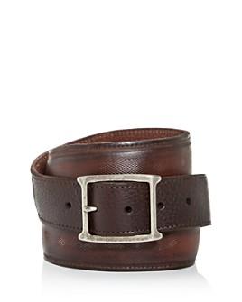 John Varvatos Star USA - Men's Mesh Inlay Leather Belt