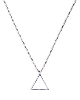 Degs & Sal - Sterling Silver Triangle Necklace, 24""