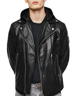 Diesel - Solove Mixed-Media Leather Jacket