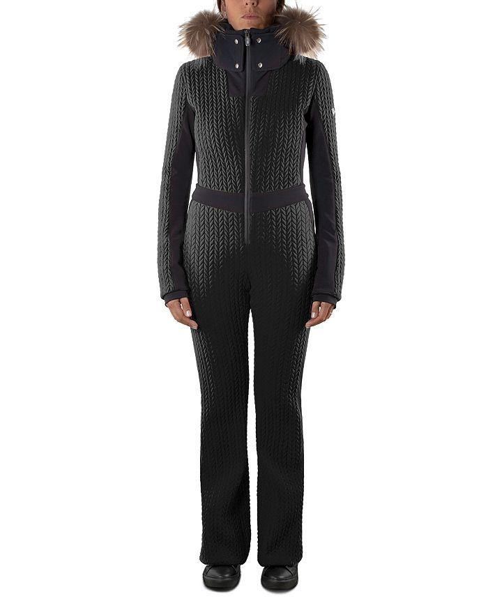 Post Card - Leah Fur-Trim Ski Suit