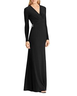 Ralph Lauren - Brooch Jersey Gown