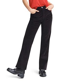 rag & bone - Ruth Super High-Rise Straight-Leg Corduroy Jeans