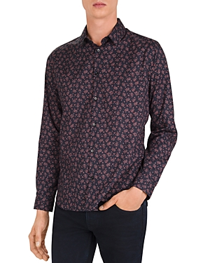 The Kooples T-shirts GOTHIC FLOWERS SLIM FIT BUTTON-DOWN SHIRT