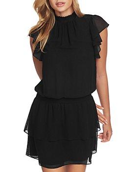 1.STATE - Mock Neck Flutter Mini Dress