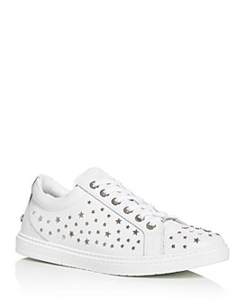 Jimmy Choo - Men's Cash Star Embellished Leather Low-Top Sneakers