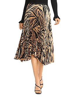 Bailey 44 - Logan Pleated Zebra Print Skirt