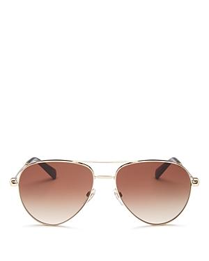 Valentino Women\\\'s Brow Bar Aviator Sunglasses, 57mm-Jewelry & Accessories