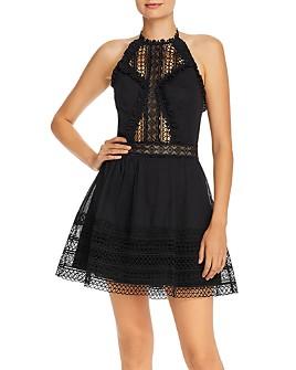 Charo Ruiz Ibiza - Andrea Crochet-Inset Halter Dress