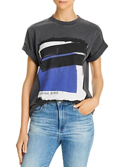 Anine Bing - Georgie Blue Painting Tee
