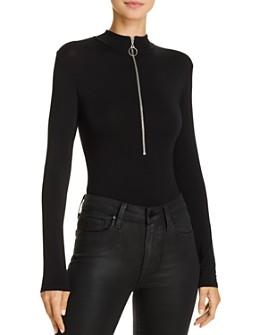 Enza Costa - Mock Neck Zip-Up Bodysuit