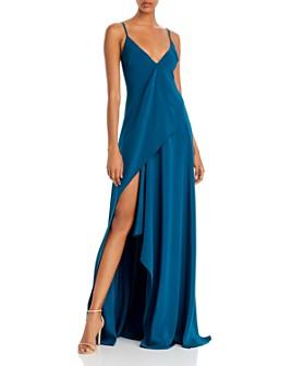 Cushnie - Draped Asymmetric Silk Gown