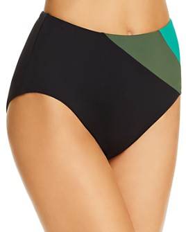 kate spade new york - Reversible High-Waist Bikini Bottom
