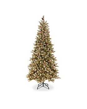National Tree Company - 7.5 ft. Dunhill® Fir Slim Hinged Tree with Clear Lights